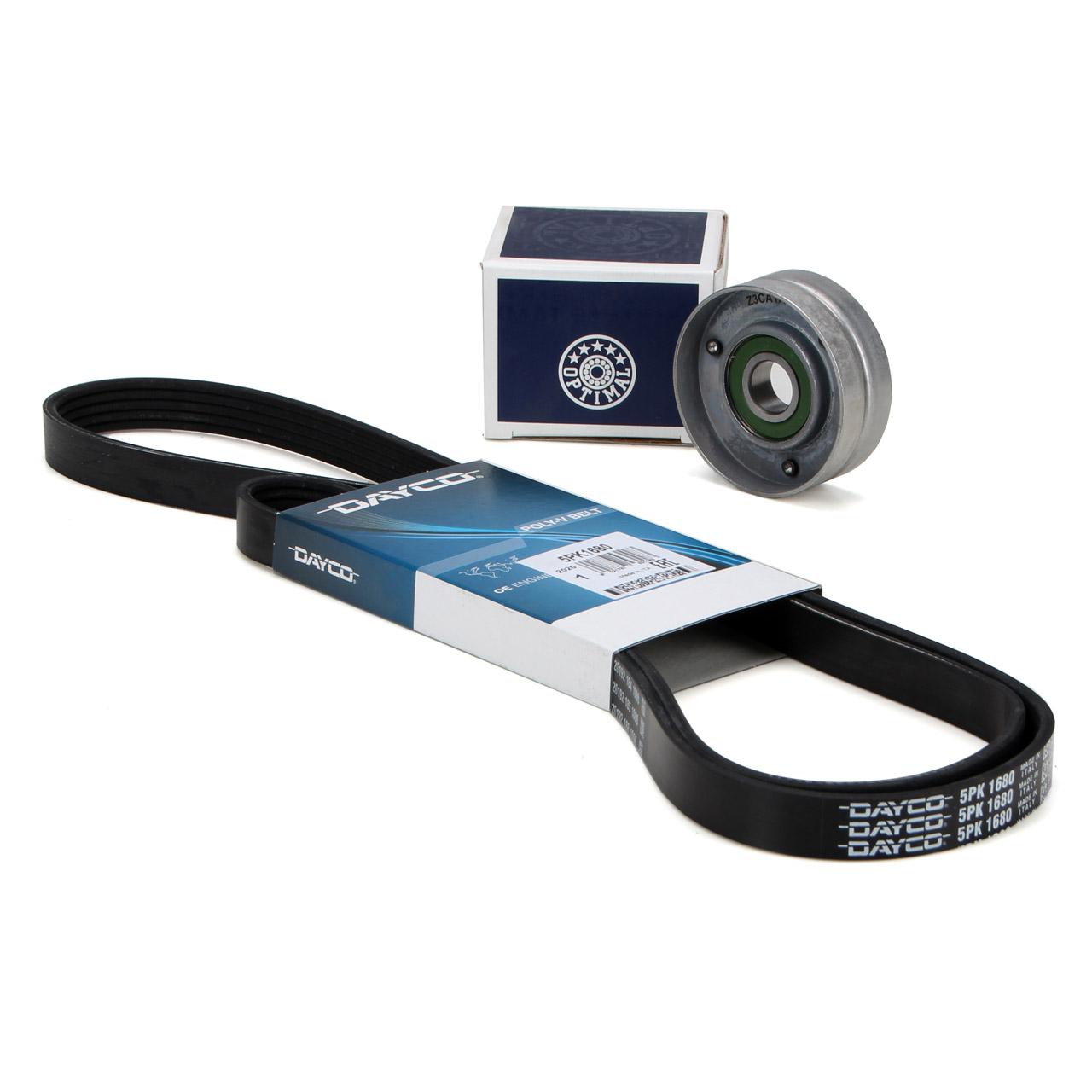 DAYCO Keilrippenriemen + OPTIMAL Spannrolle OPEL Astra G H Speedster Zafira A B 2.0 OPC