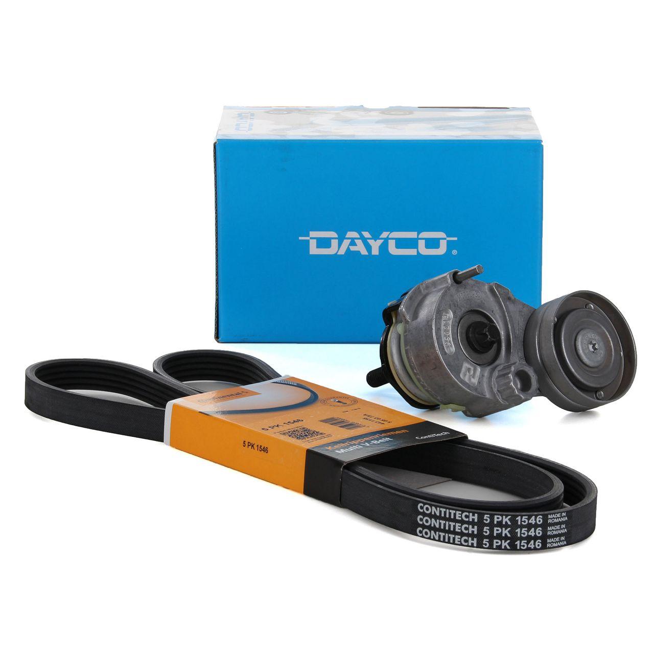 DAYCO 5PK1545 Keilrippenriemen + DAYCO Riemenspanner ALFA ROMEO FIAT OPEL 1.6 1.8