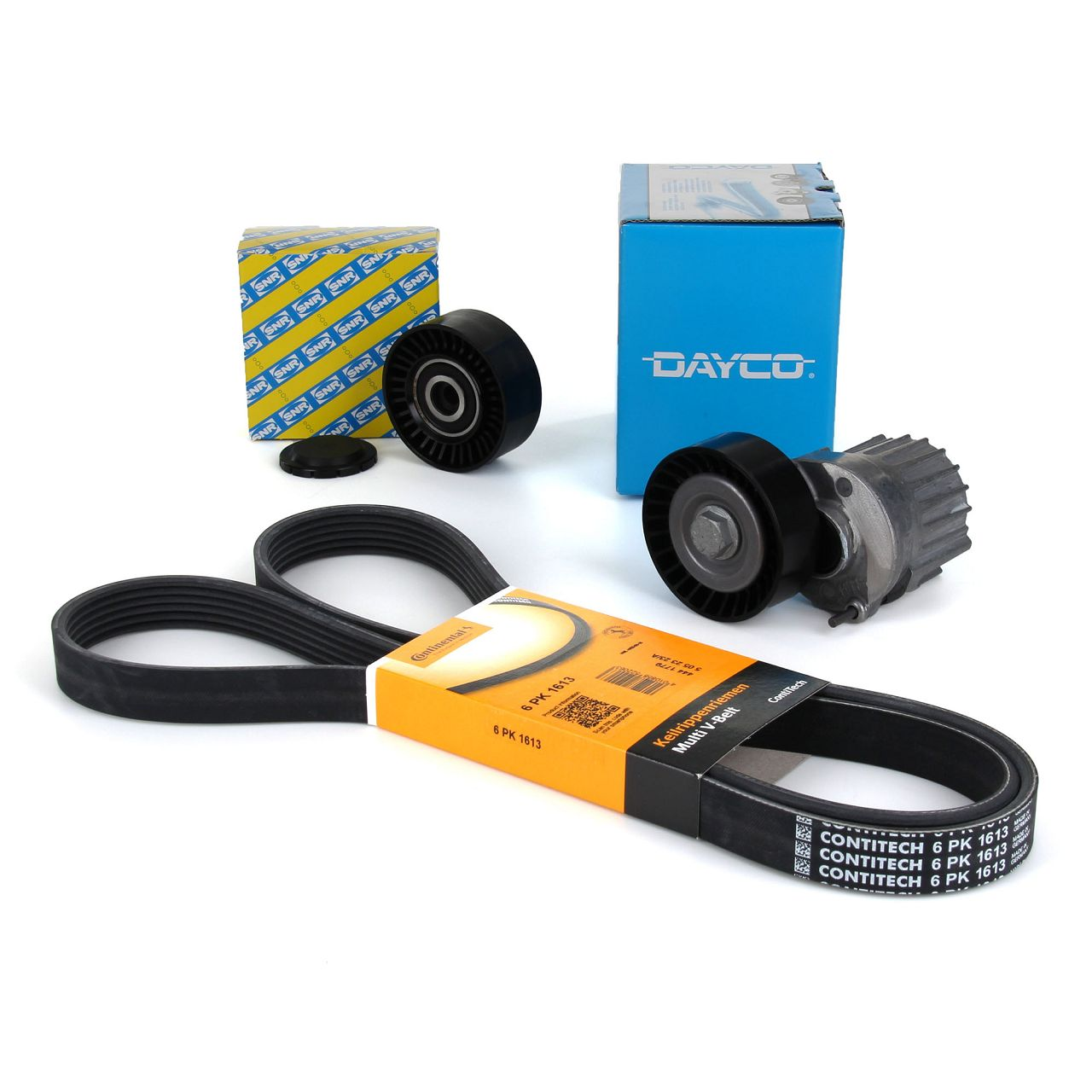 DAYCO 6PK1613 Keilrippenriemen + Spanner + Rolle AUDI A4 A6 VW Crafter 1.9/2.0TDI