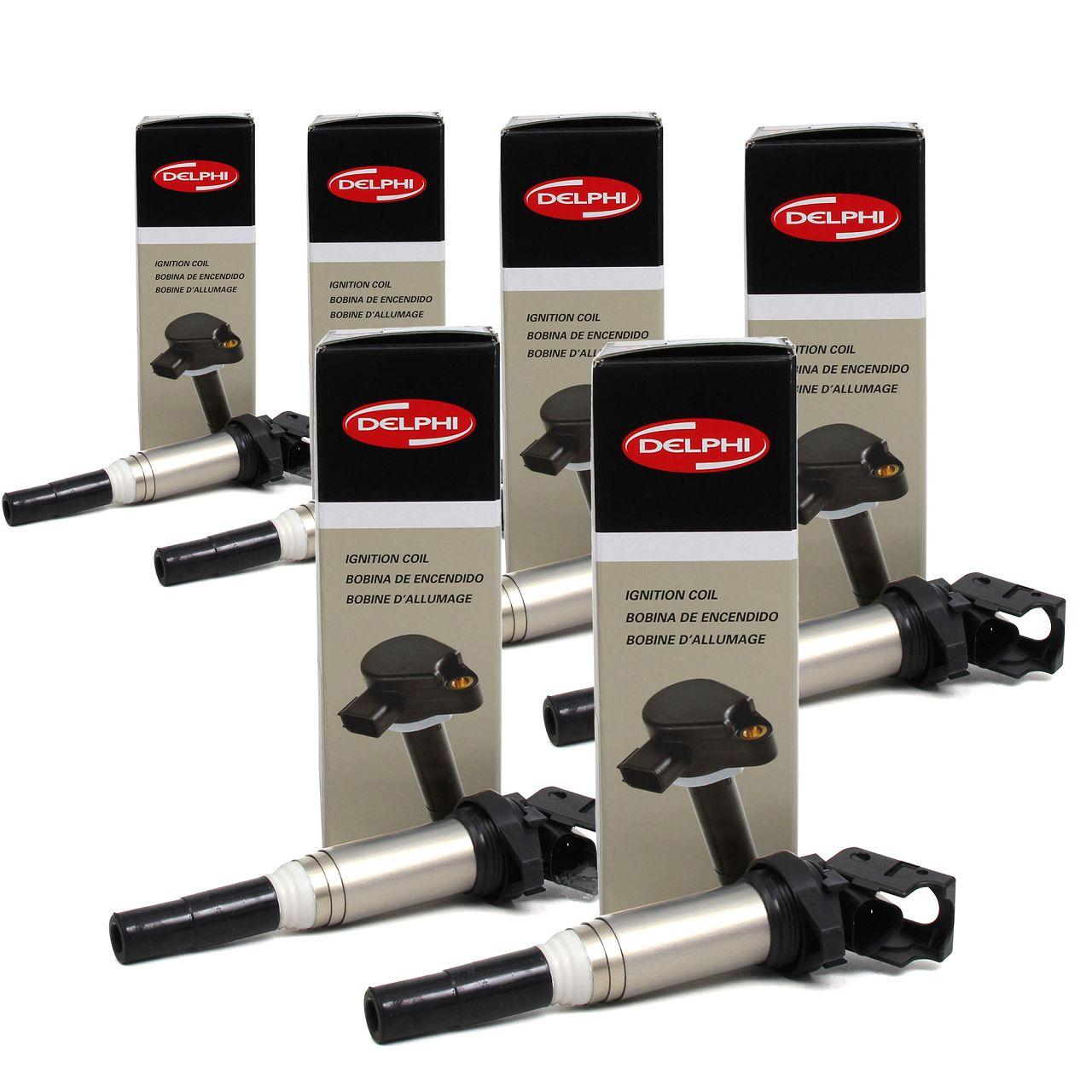 6x DELPHI GN10571-12B1 Zündspule für BMW & MINI 4 & 6 & 8 Zylinder BENZINER