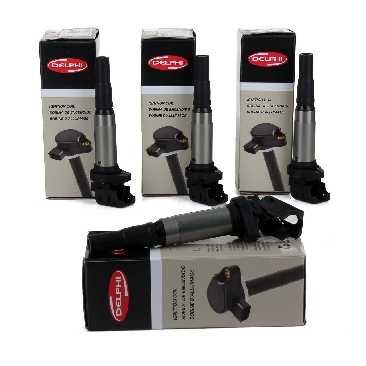 4x DELPHI GN10572-12B1 Zündspule für BMW 4 + 6 + 8 Zylinder BENZINER 12137575010