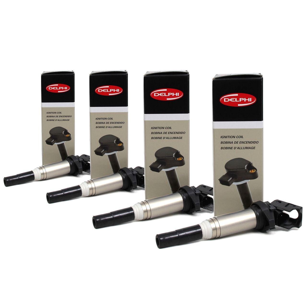 4x DELPHI GN10571-12B1 Zündspule für BMW & MINI 4 Zylinder BENZINER 12138616153