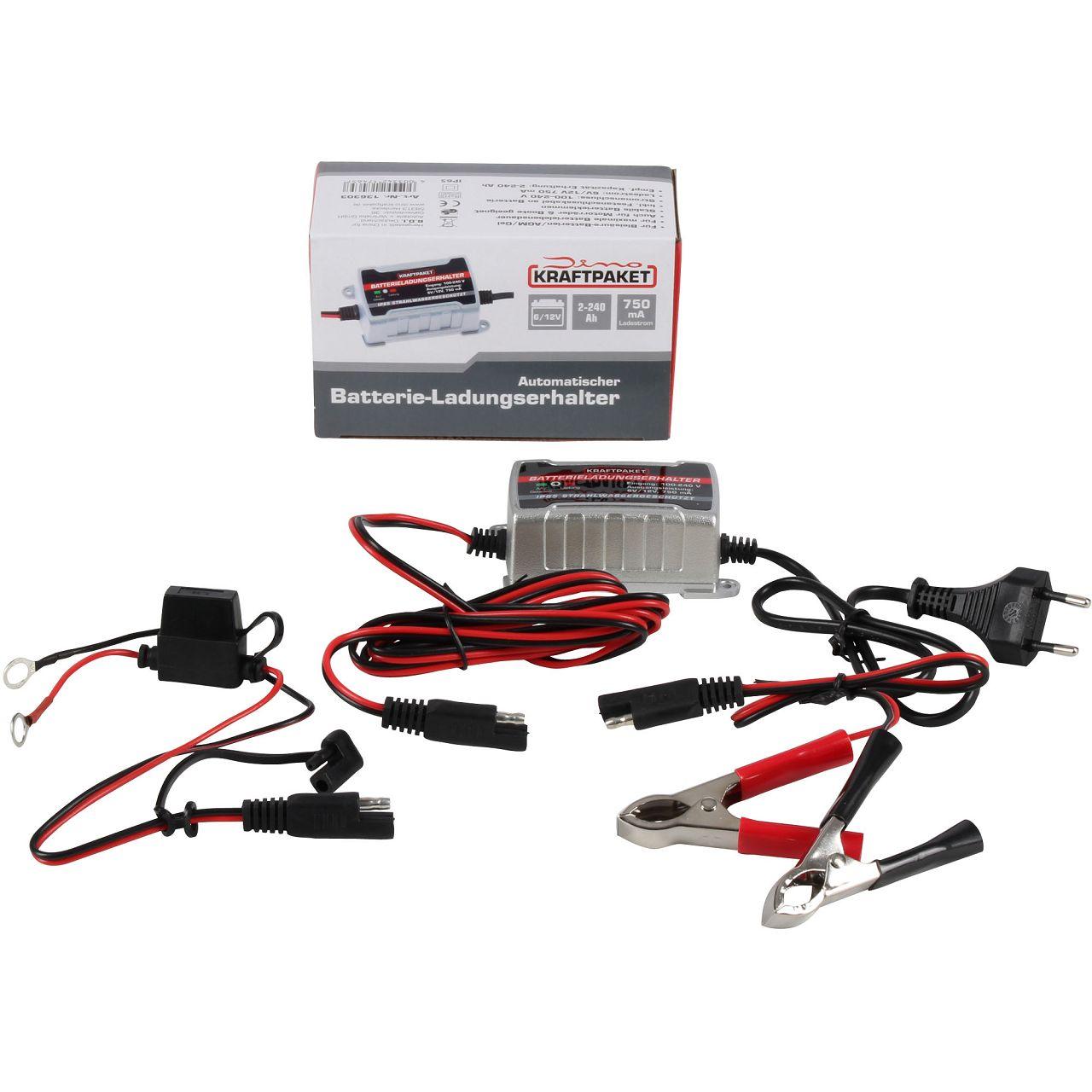 Dino KRAFTPAKET 136303 Batterie Erhaltungsgerät Batterieladungshalter 6V 12V