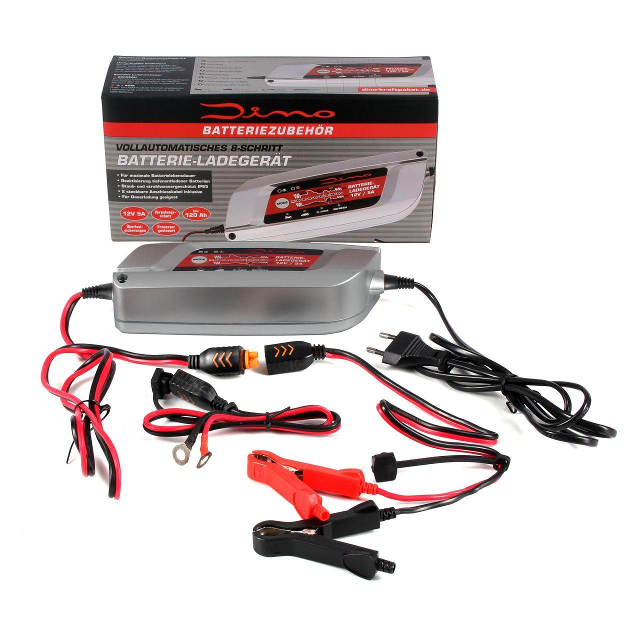 Dino KRAFTPAKET 136300 12V 5A Batterieladegerät Ladegerät 120Ah Autobatterie