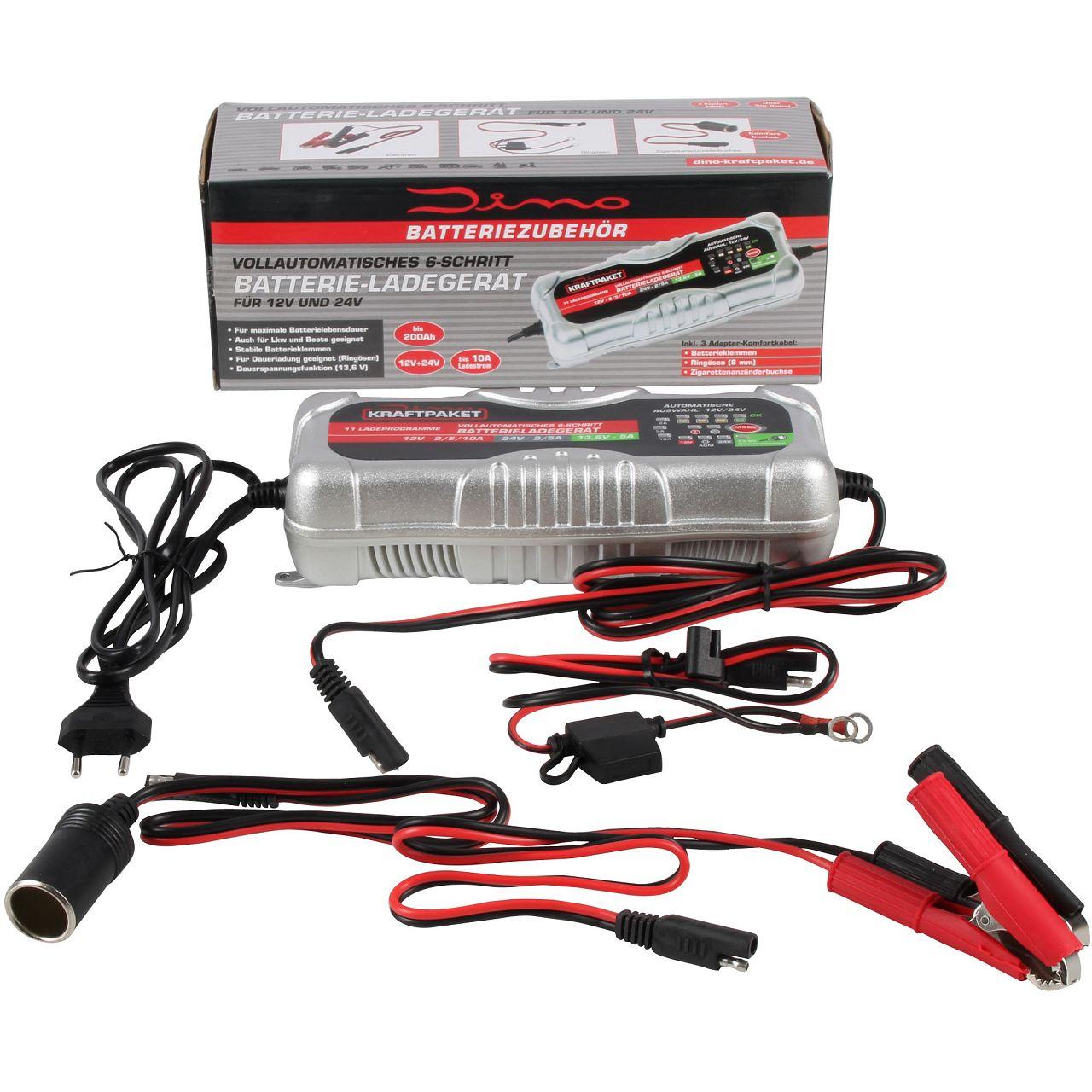 Dino KRAFTPAKET 136302 Batterieladegerät Ladegerät 12V 24V 10A KFZ Auto Motorrad