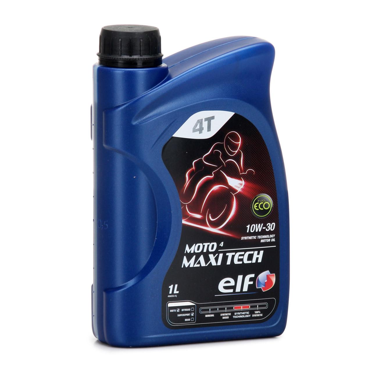 ELF Motoröl ÖL 4T 4-TAKT MOTO 4 MAXITECH 10W30 JASO MA API SJ - 2L 2 Liter