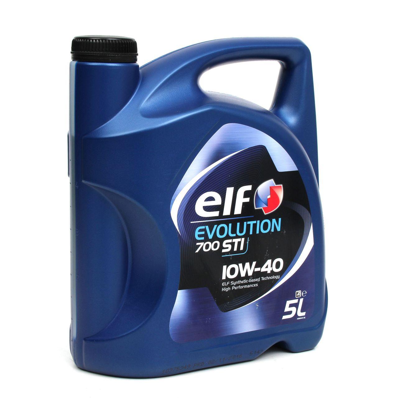elf Evolution 700 STI 10W-40 Motoröl für VW 501.01/505.00 MB 229.1 - 5 Liter