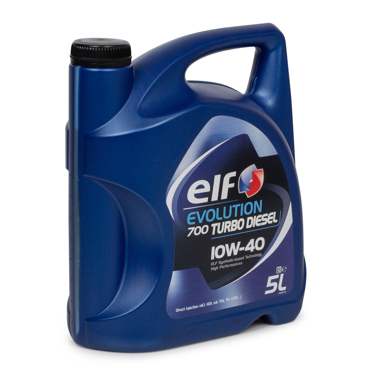 elf Evolution 700 TURBO DIESEL 10W-40 10W40 Motoröl für Renault Diesel - 5 Liter