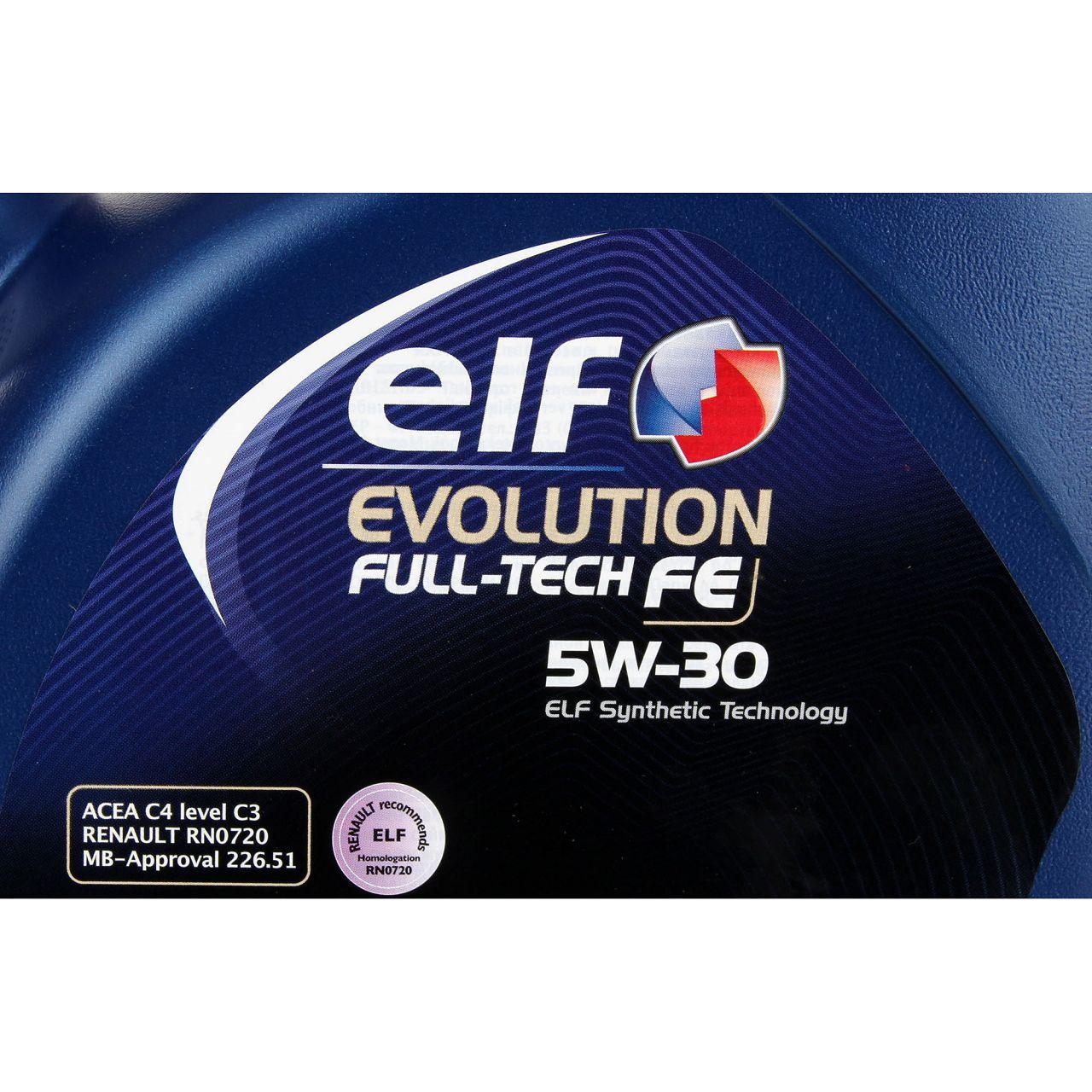 elf Evolution Full-Tech FE 5W-30 Motoröl RENAULT RN0720 MB 226.51 - 5L 5 Liter