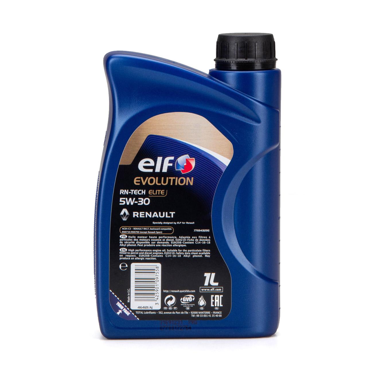 elf Evolution RN-TECH ELITE 5W-30 5W30 Motoröl Öl C3 Renault RN17 - 1L 1 Liter