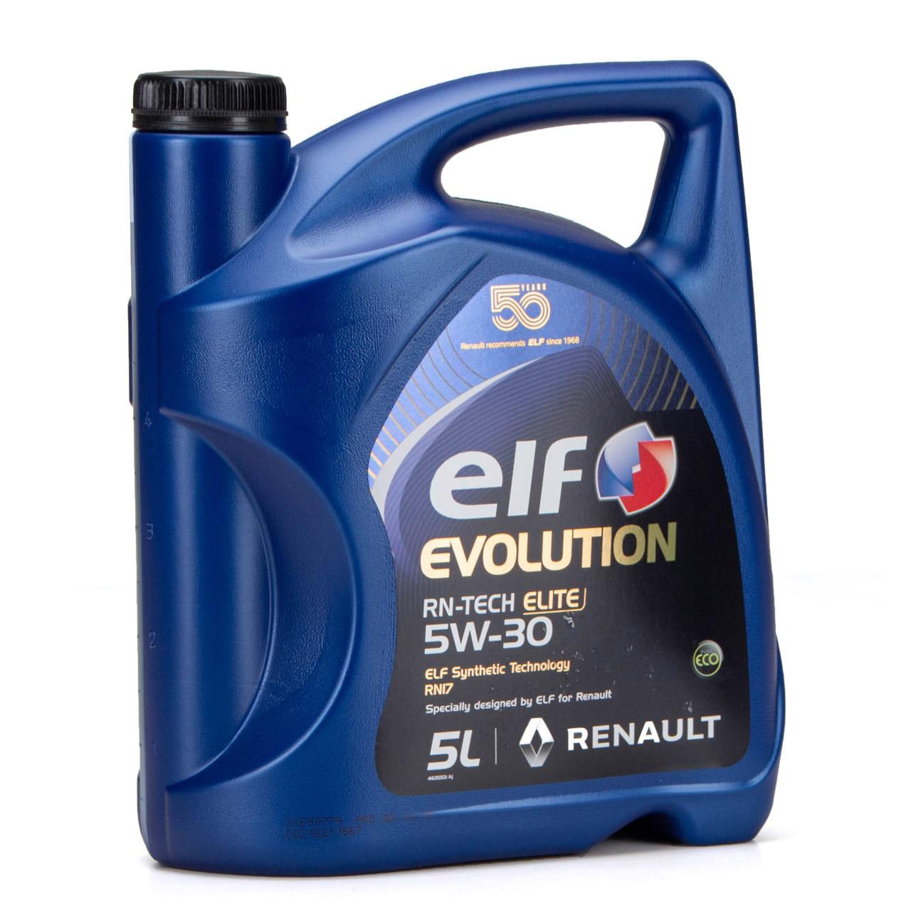 elf Evolution RN-TECH ELITE 5W-30 5W30 Motoröl Öl C3 Renault RN17 - 6L 6 Liter