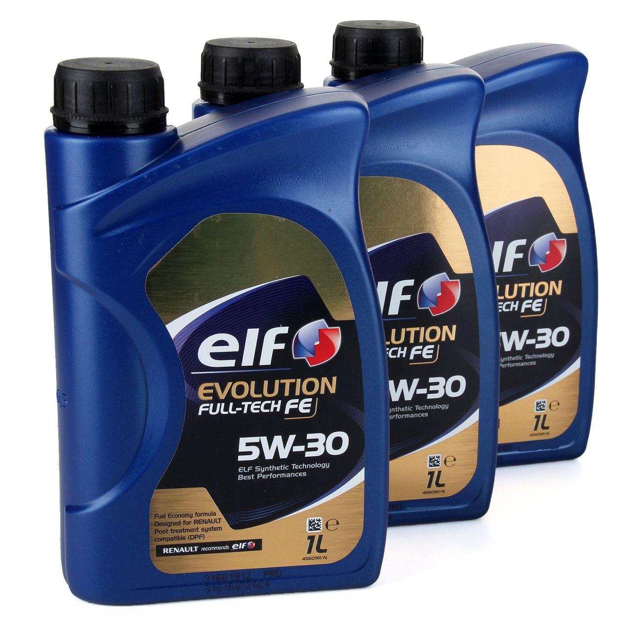 elf Evolution Full-Tech FE 5W-30 Motoröl RENAULT RN0720 MB 226.51 - 3L 3 Liter