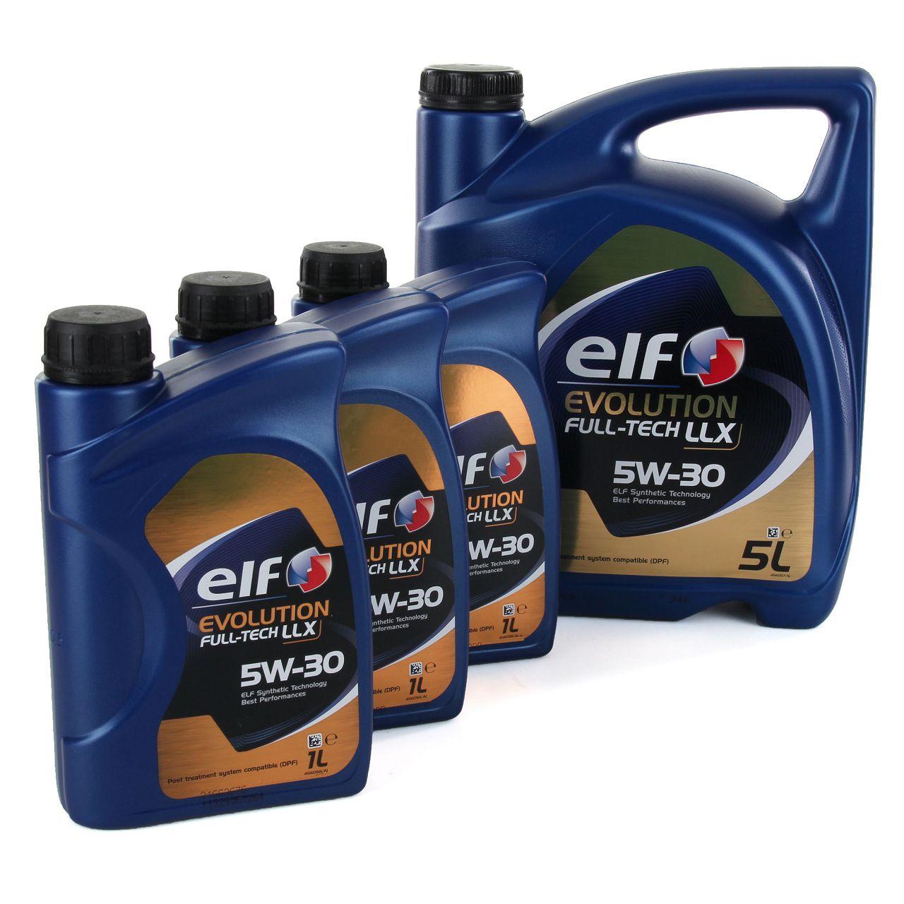 8L 8 Liter elf Evolution Full-Tech LLX 5W-30 Motoröl 504.00/507.00 MB 229.51