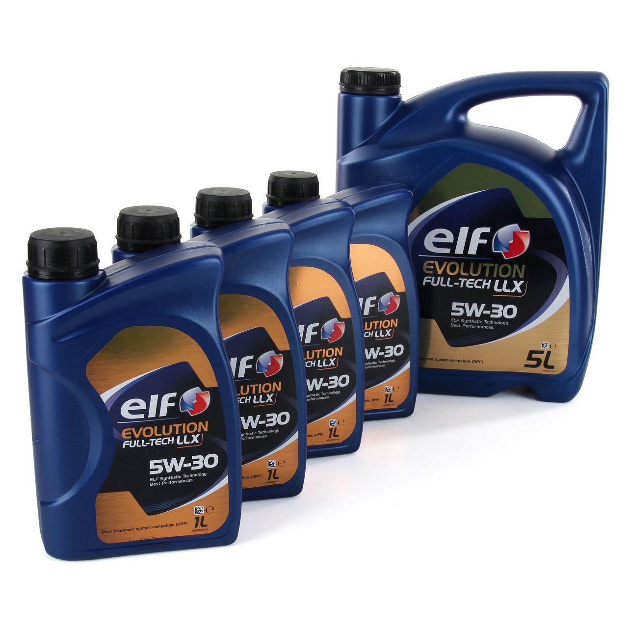 9L 9 Liter elf Evolution Full-Tech LLX 5W-30 Motoröl 504.00/507.00 MB 229.51