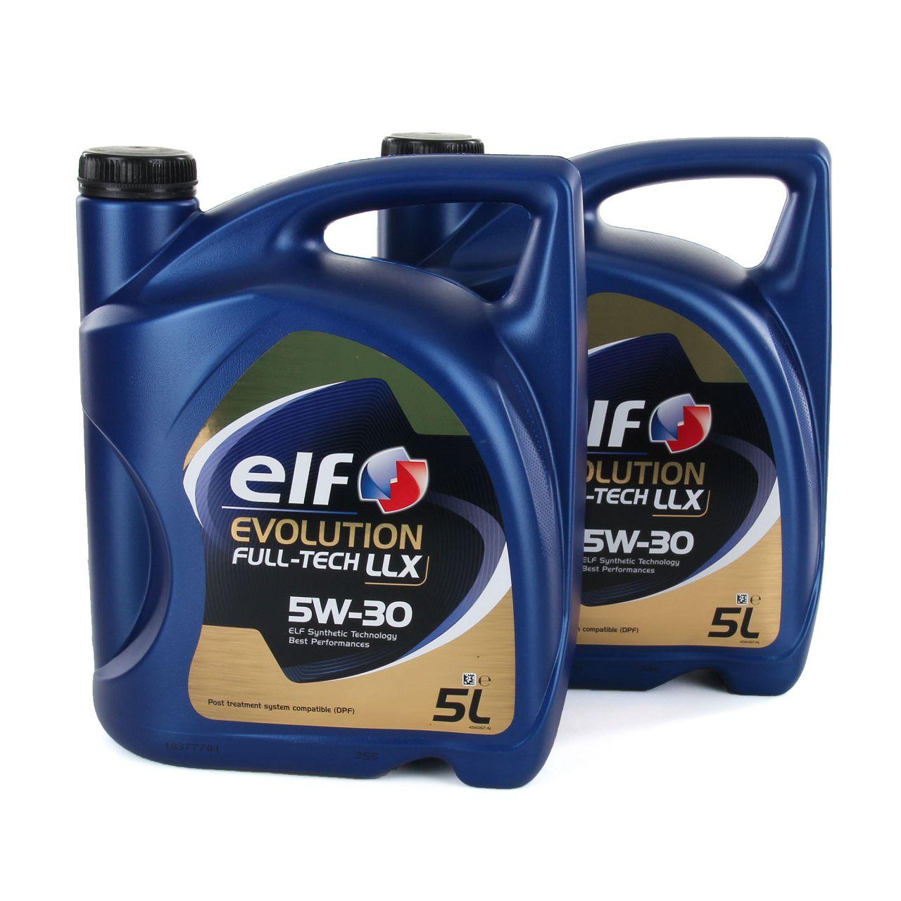 2x 5L 5 Liter elf Evolution Full-Tech LLX 5W-30 Motoröl 504.00/507.00 MB 229.51