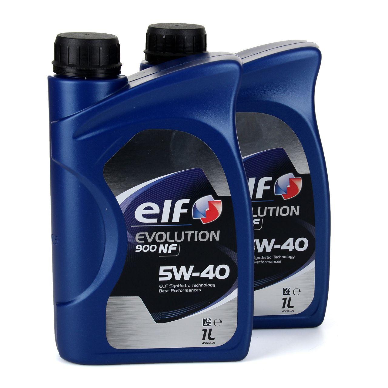 elf Evolution 900 NF 5W-40 Motoröl VW 502.00/505.00 MERCEDES 229.3 - 2L 2 Liter