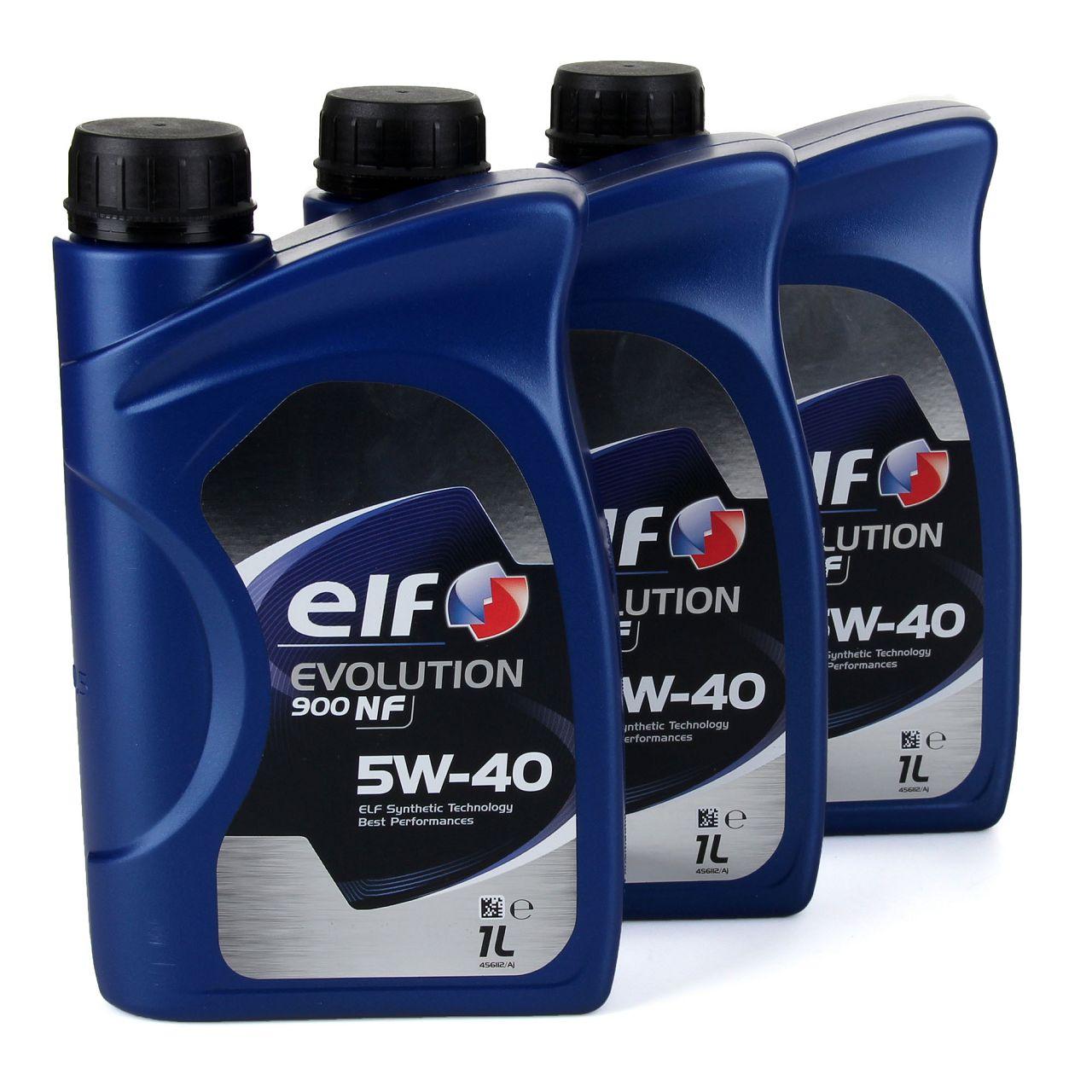 elf Evolution 900 NF 5W-40 Motoröl VW 502.00/505.00 MERCEDES 229.3 - 3L 3 Liter