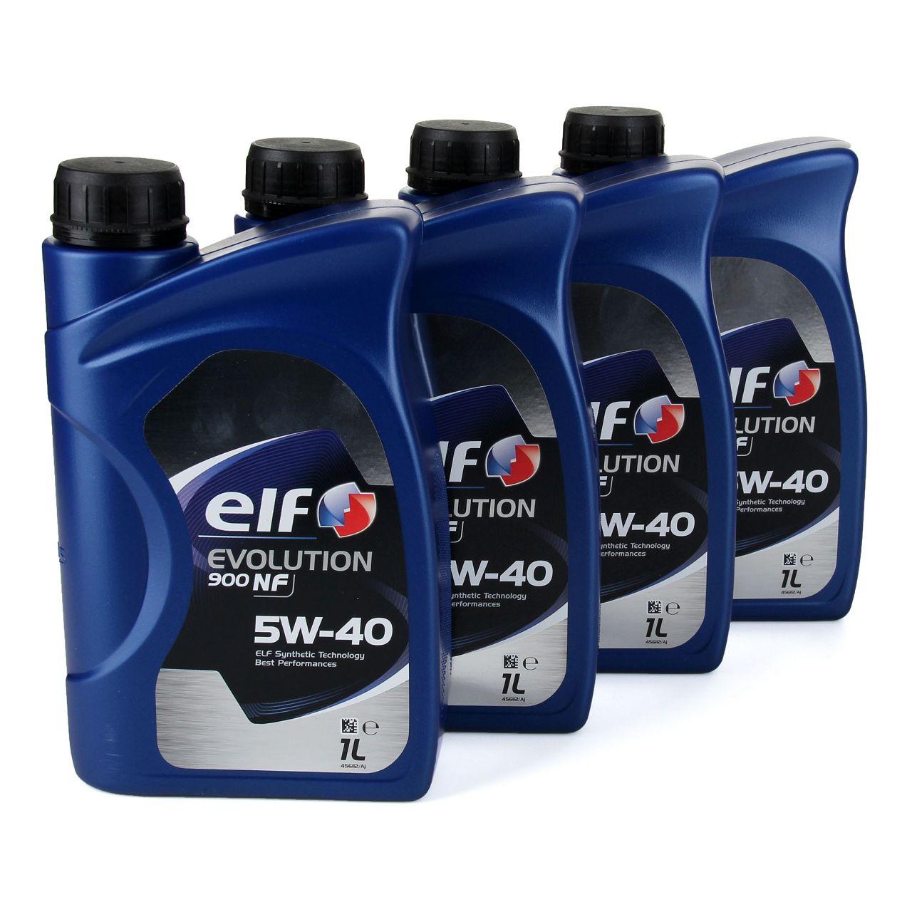 elf Evolution 900 NF 5W-40 Motoröl VW 502.00/505.00 MERCEDES 229.3 - 4L 4 Liter