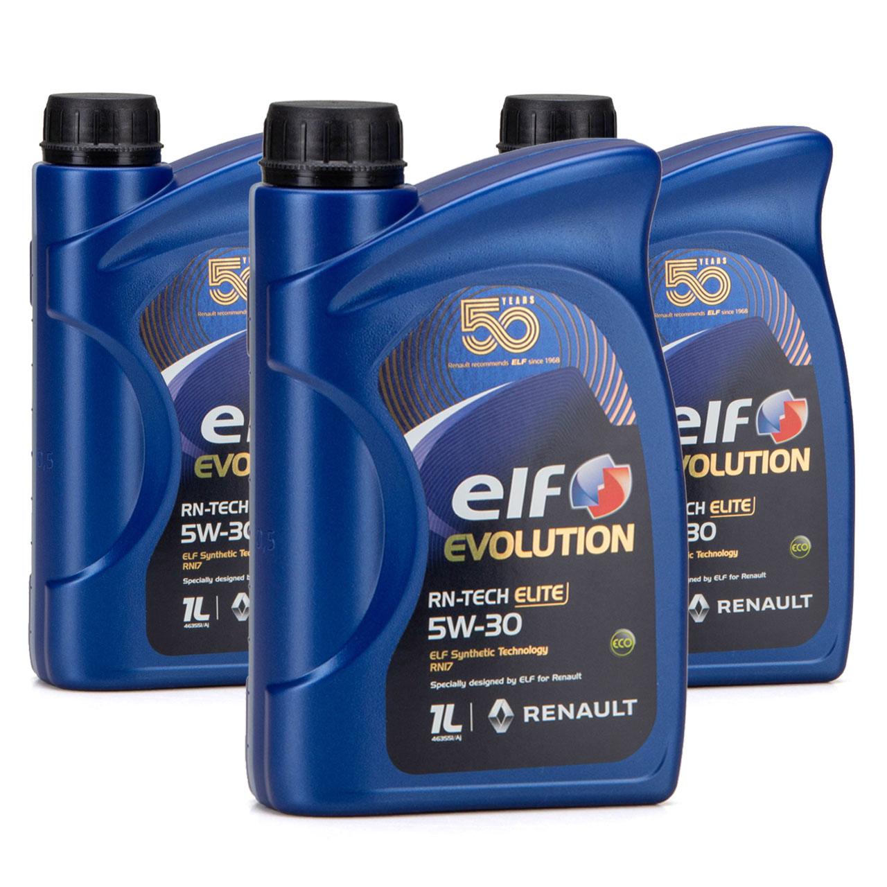 elf Evolution RN-TECH ELITE 5W-30 5W30 Motoröl Öl C3 Renault RN17 - 3L 3 Liter