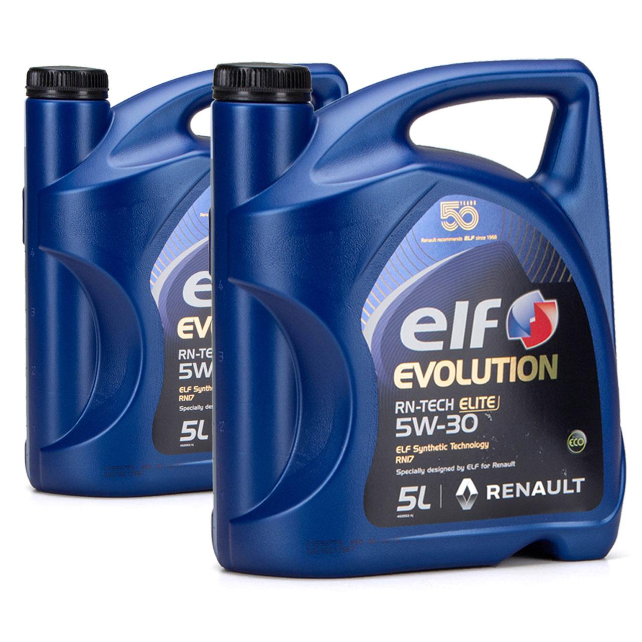 elf Evolution RN-TECH ELITE 5W-30 5W30 Motoröl Öl C3 Renault RN17 - 10L 10 Liter