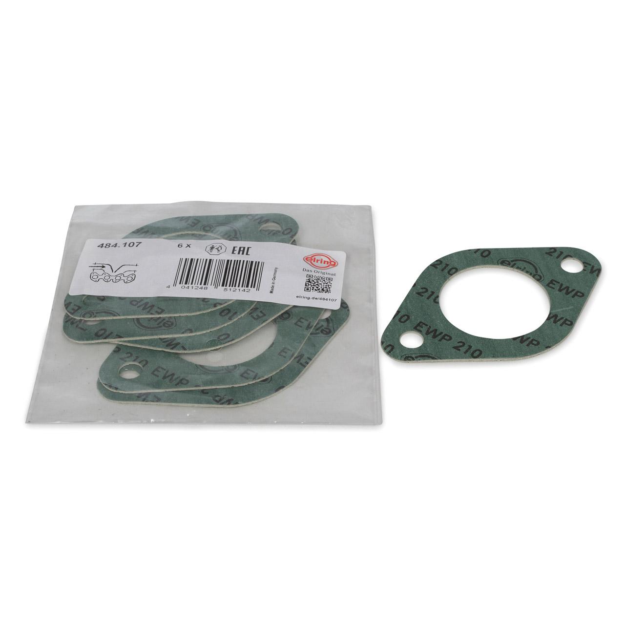 6x ELRING Krümmerdichtung Ansaugkrümmer für PORSCHE 911 + TARGA 2.2/2.3 E/S/T