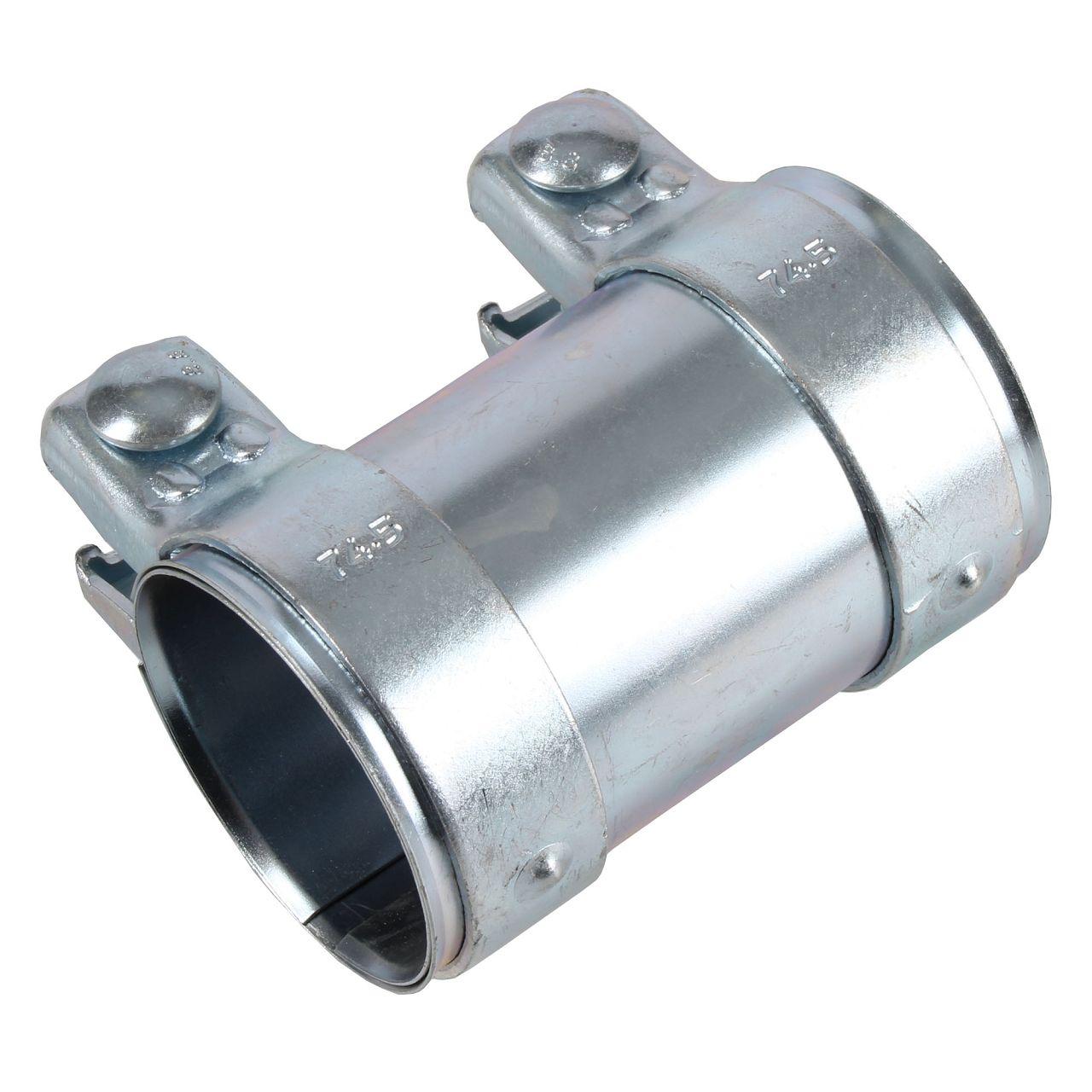 Rohrverbinder Doppelschelle Auspuff Abgasanlage Ø 70 mm x Länge 125 mm