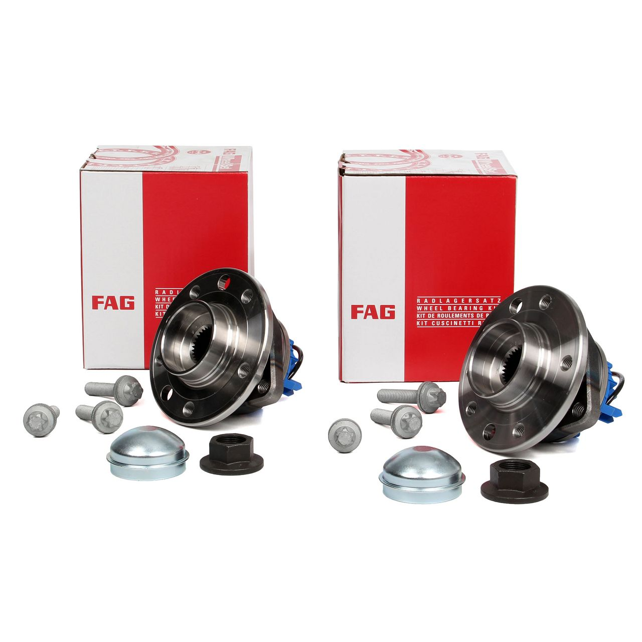 2x FAG 713644270 Radnabe Radlager + ABS Sensor 5-Loch OPEL Signum Vectra C vorne