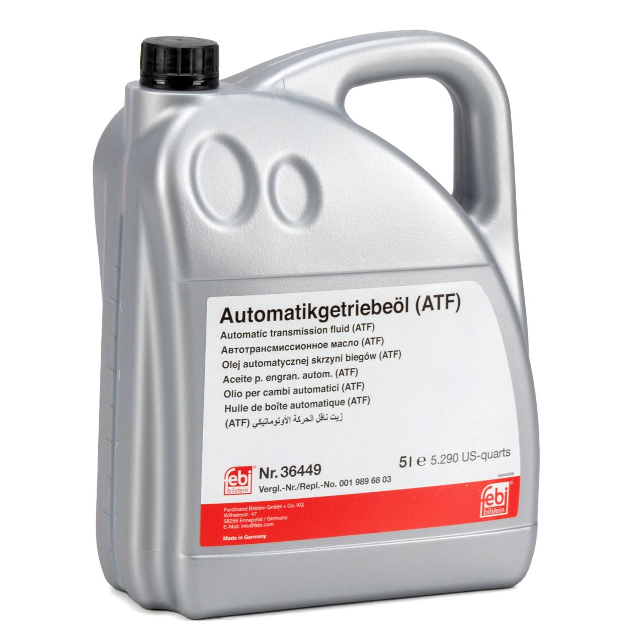 FEBI 36449 Automatikgetriebeöl ATF 134 MERCEDES MB 236.14 DSIH 6P805 5L 5 Liter