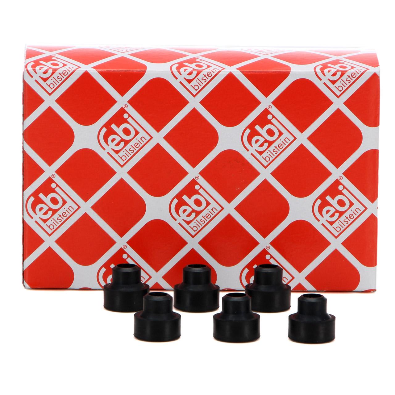6x FEBI Halter Einspritzventil für MERCEDES M100 M102 M110 M116 M117 1160780873