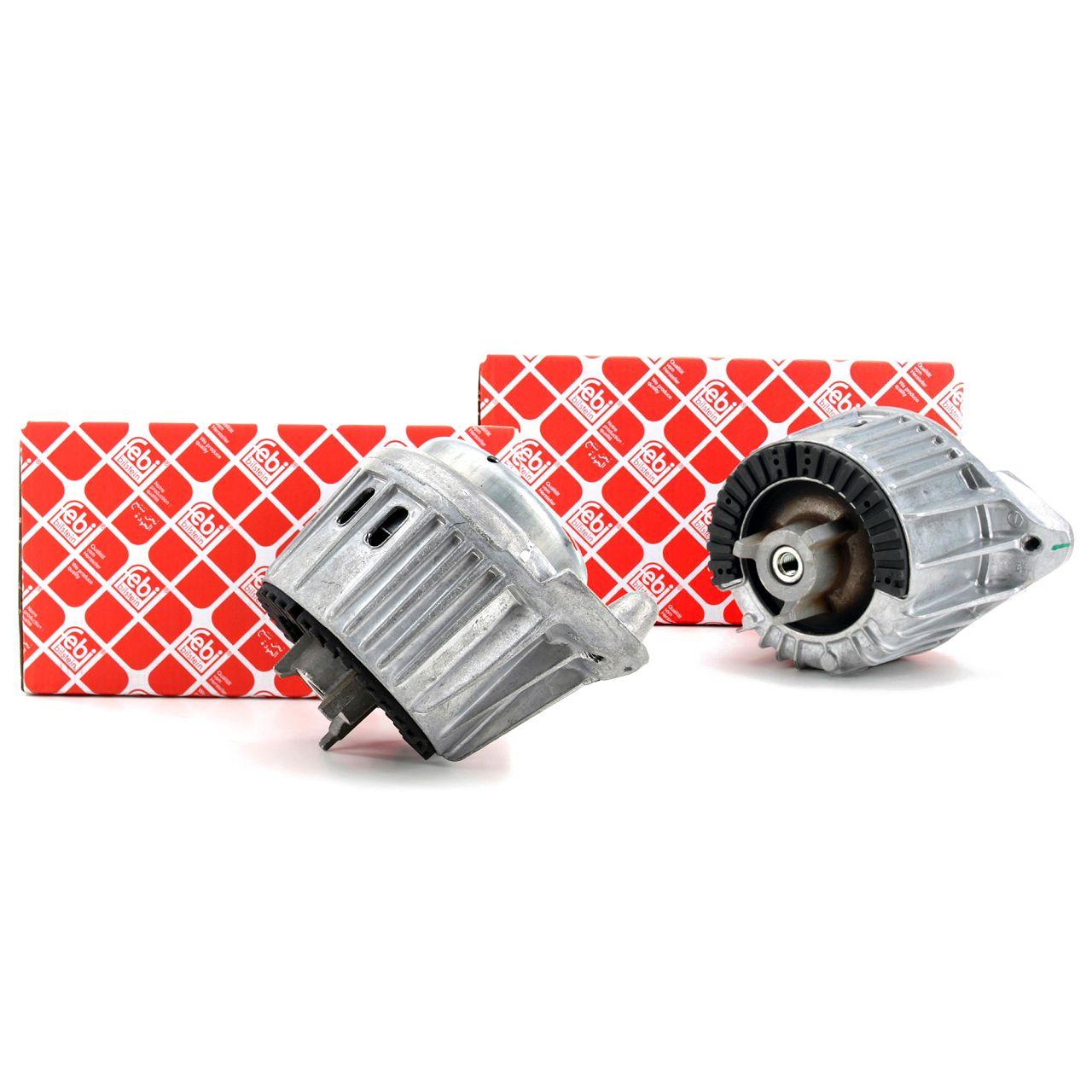2x FEBI Motorlager Motorhalter Hydrolager für Mercedes W204 C218 X218 W212 vorne