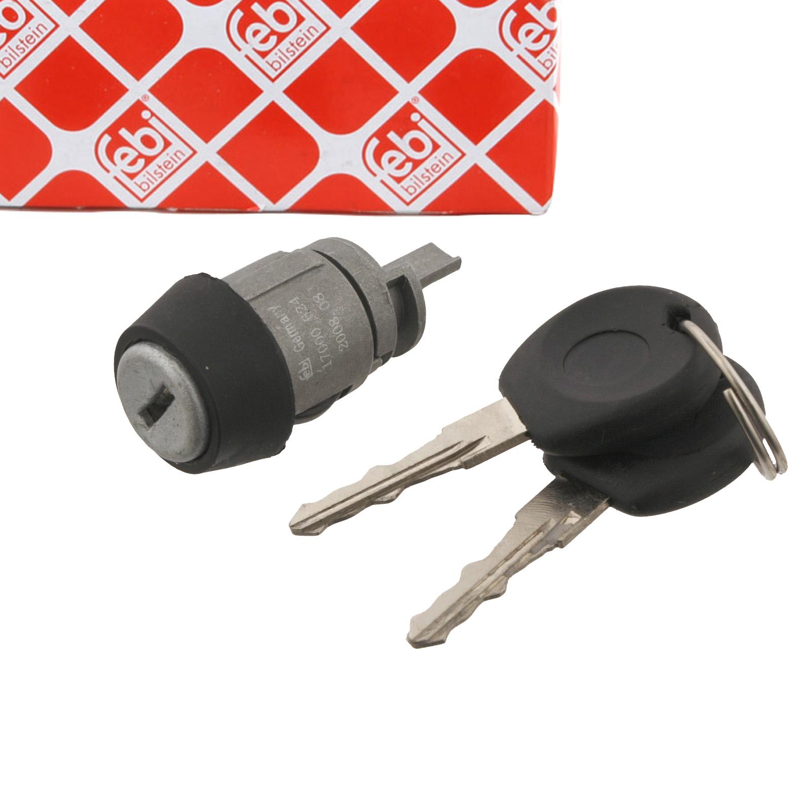 FEBI 17000 Zündschloss + 2 Schlüssel VW Golf 2 3 Jetta Passat Polo 86c Vento