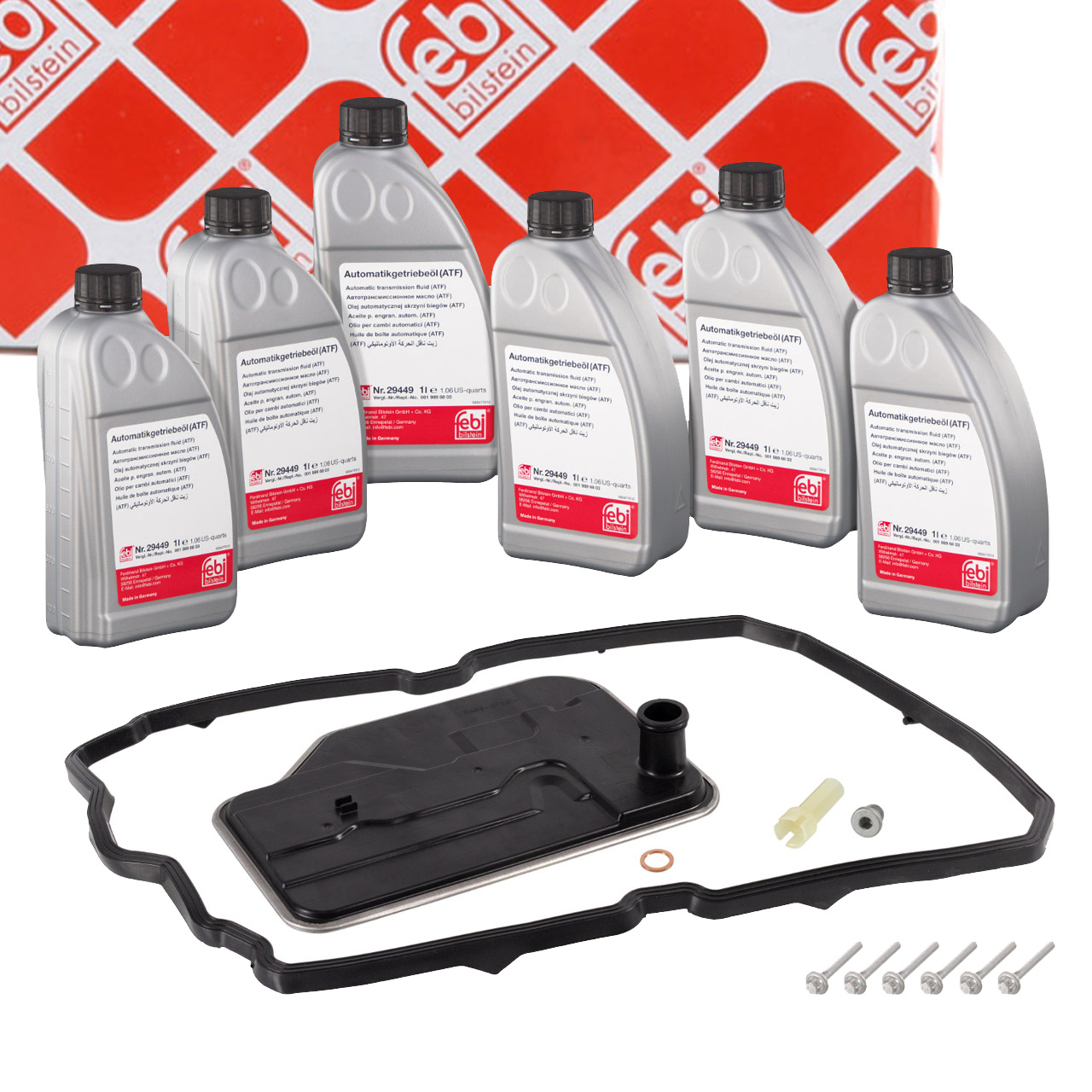 FEBI 171750 Automatikgetriebe Reparatursatz + 6L Getriebeöl MERCEDES 7-Gang 722.9