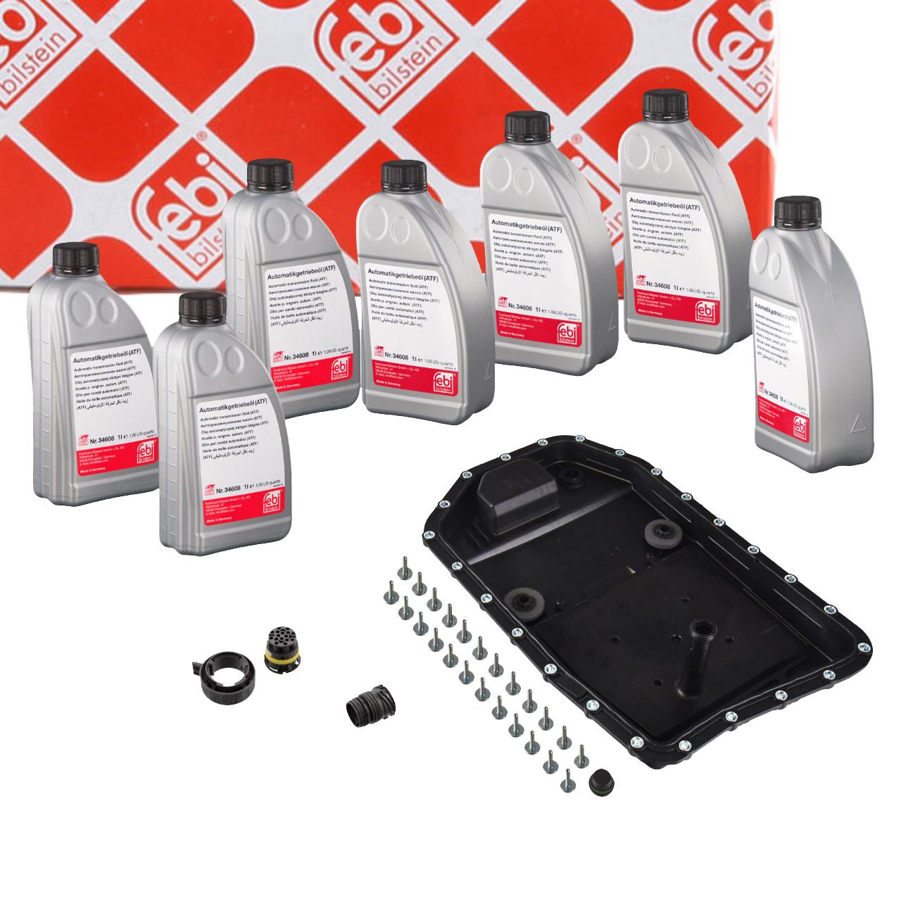 FEBI 171754 Automatikgetriebe Reparatursatz + 7L Getriebeöl BMW 6-Gang 6HP19 6HP21