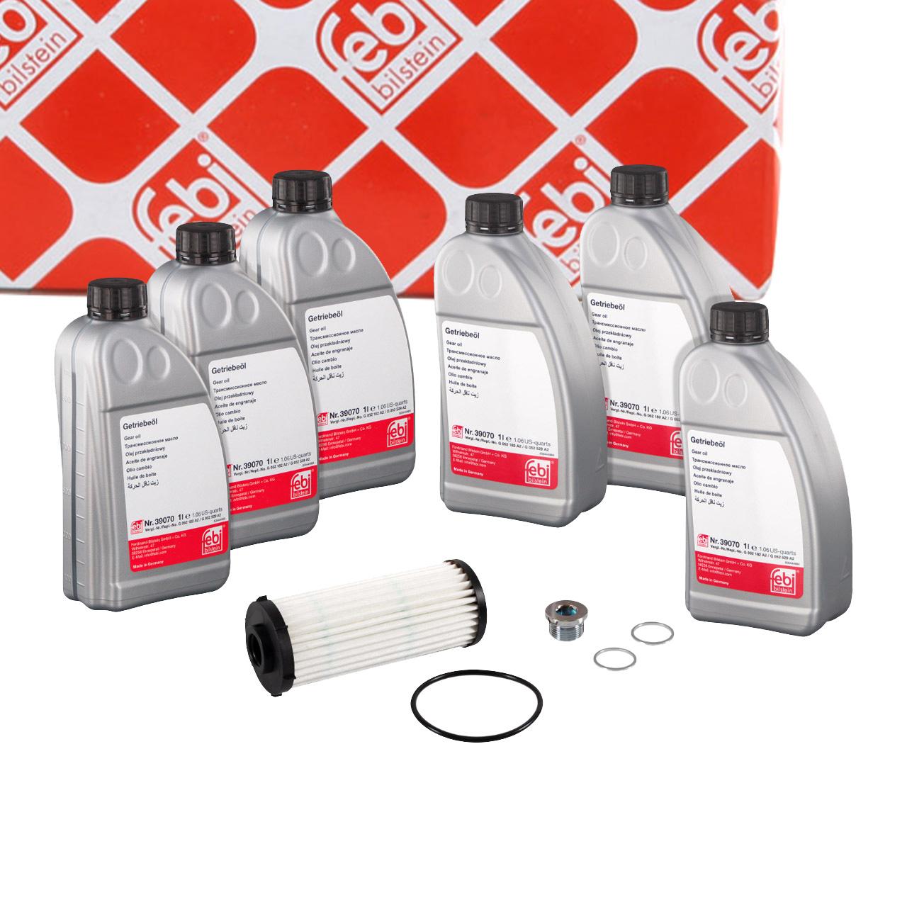 FEBI 171772 Automatikgetriebe Rep.-Satz + 6L Getriebeöl für AUDI VW 7-Gang DSG 02E DQ500