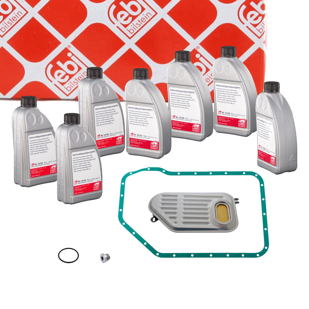 FEBI 171774 Automatikgetriebe Rep.Satz + 7L Getriebeöl AUDI VW 5-Gang 01V 5HP19FL/FLA
