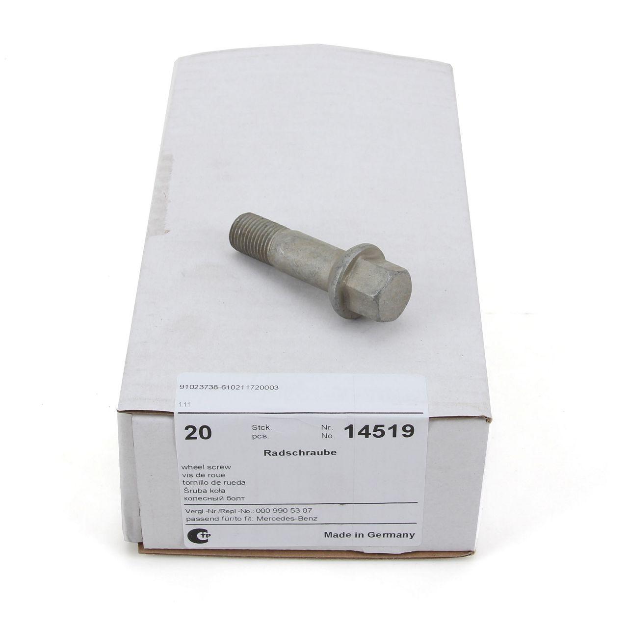 20x FEBI 14519 Radbolzen Radschrauben M14x1,5mm 20mm für MERCEDES-BENZ