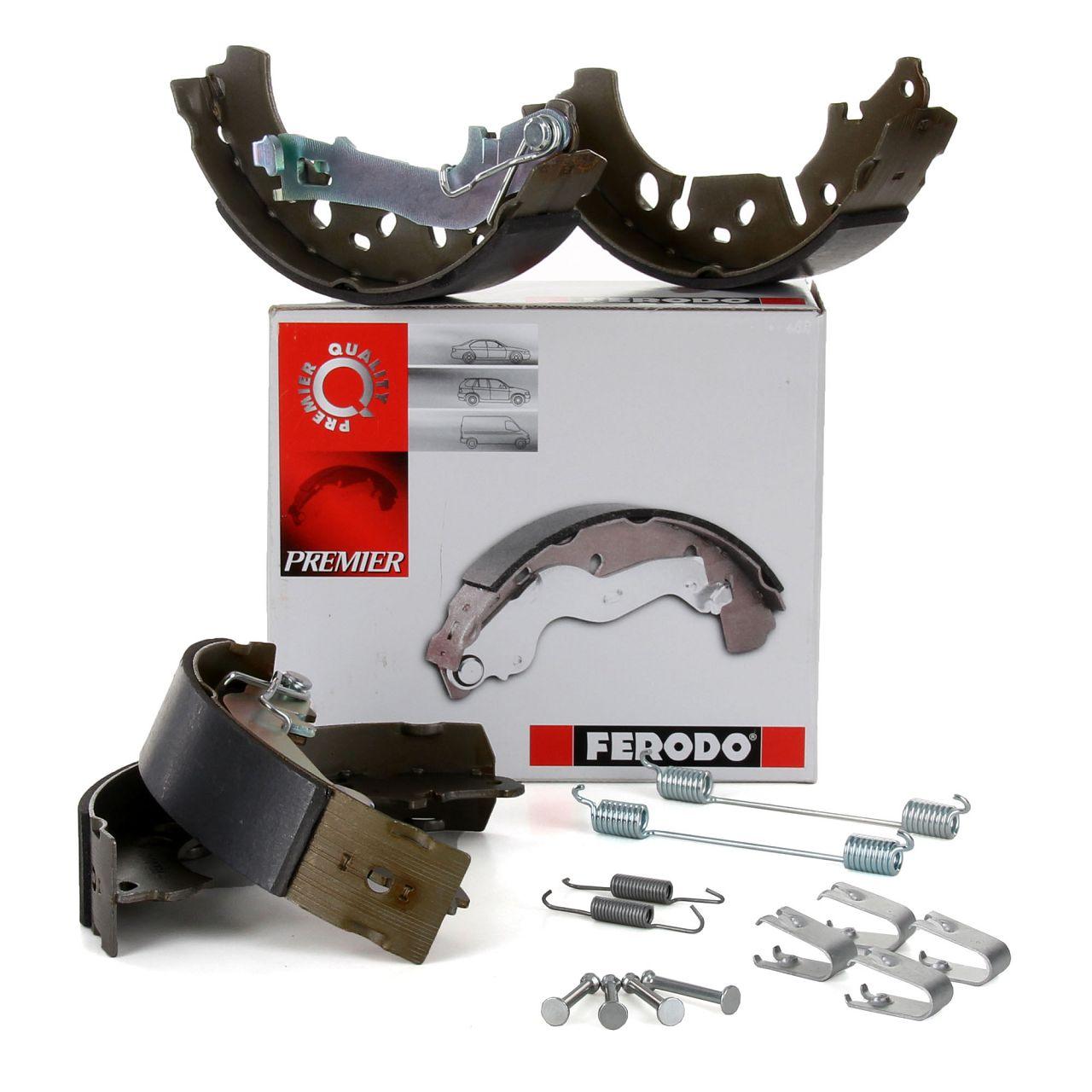 FERODO Bremsbacken + Federn Satz FIAT Grande / Punto Evo 199 OPEL Adam Crosa D E