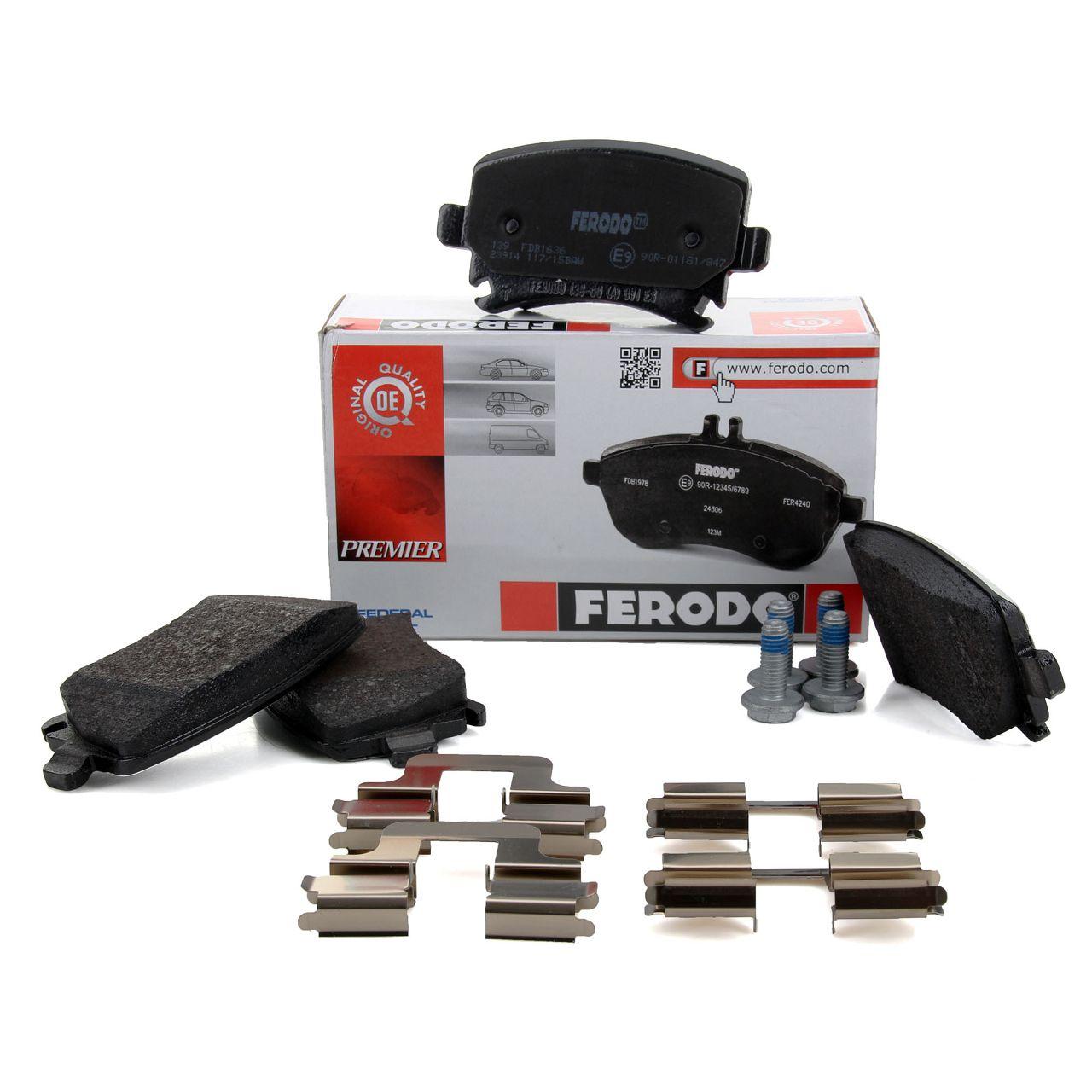 FERODO FDB1636 Bremsbeläge VW Golf 5 6 Passat Touran AUDI A3 A4 A6 hinten 1K0698451P