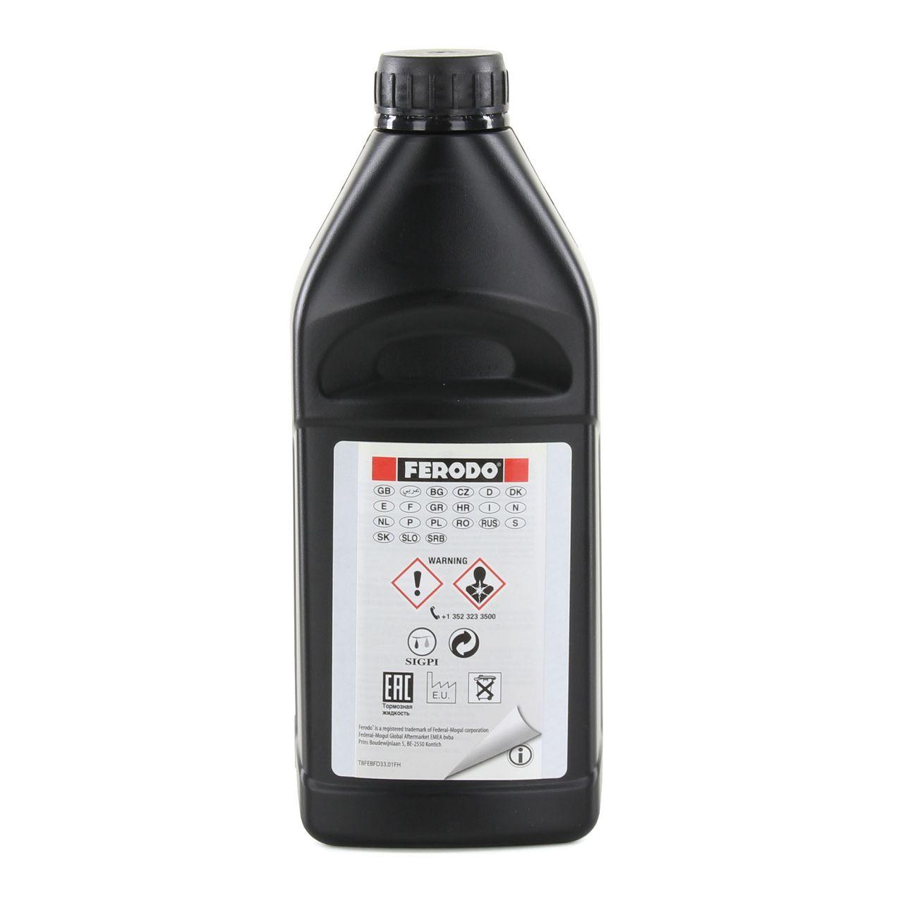 FERODO FBC100 Bremsflüssigkeit Kupplungsflüssigkeit DOT 3 / 1Liter