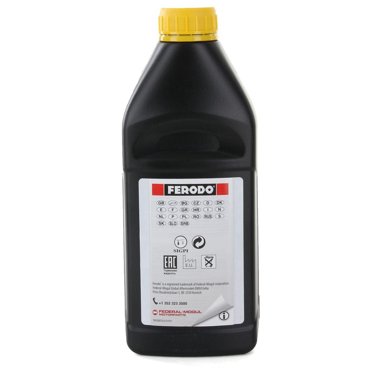FERODO Bremsflüssigkeit für ESP Systeme DOT 4 FBL100 - 1L 1 Liter