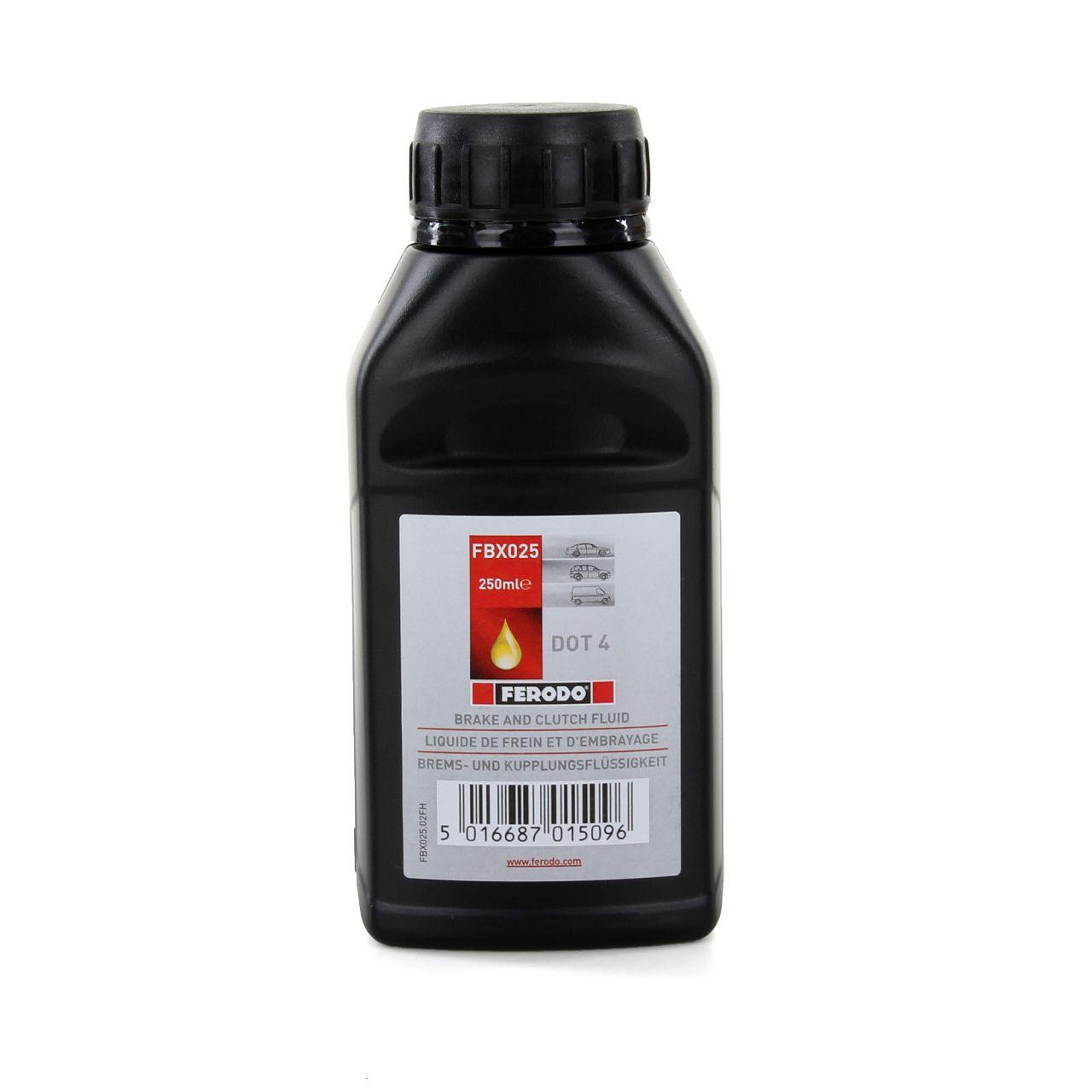 FERODO FBX025 Bremsflüssigkeit Kupplungsflüssigkeit DOT 4 / 250ML