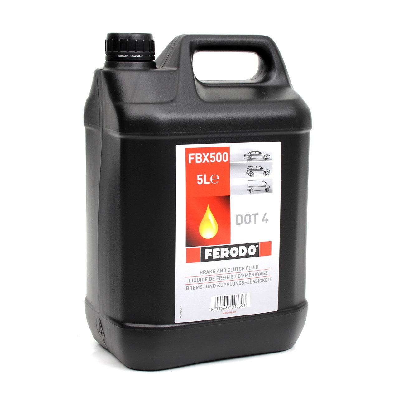 FERODO FBX500 Bremsflüssigkeit Kupplungsflüssigkeit DOT 4 - 5 Liter
