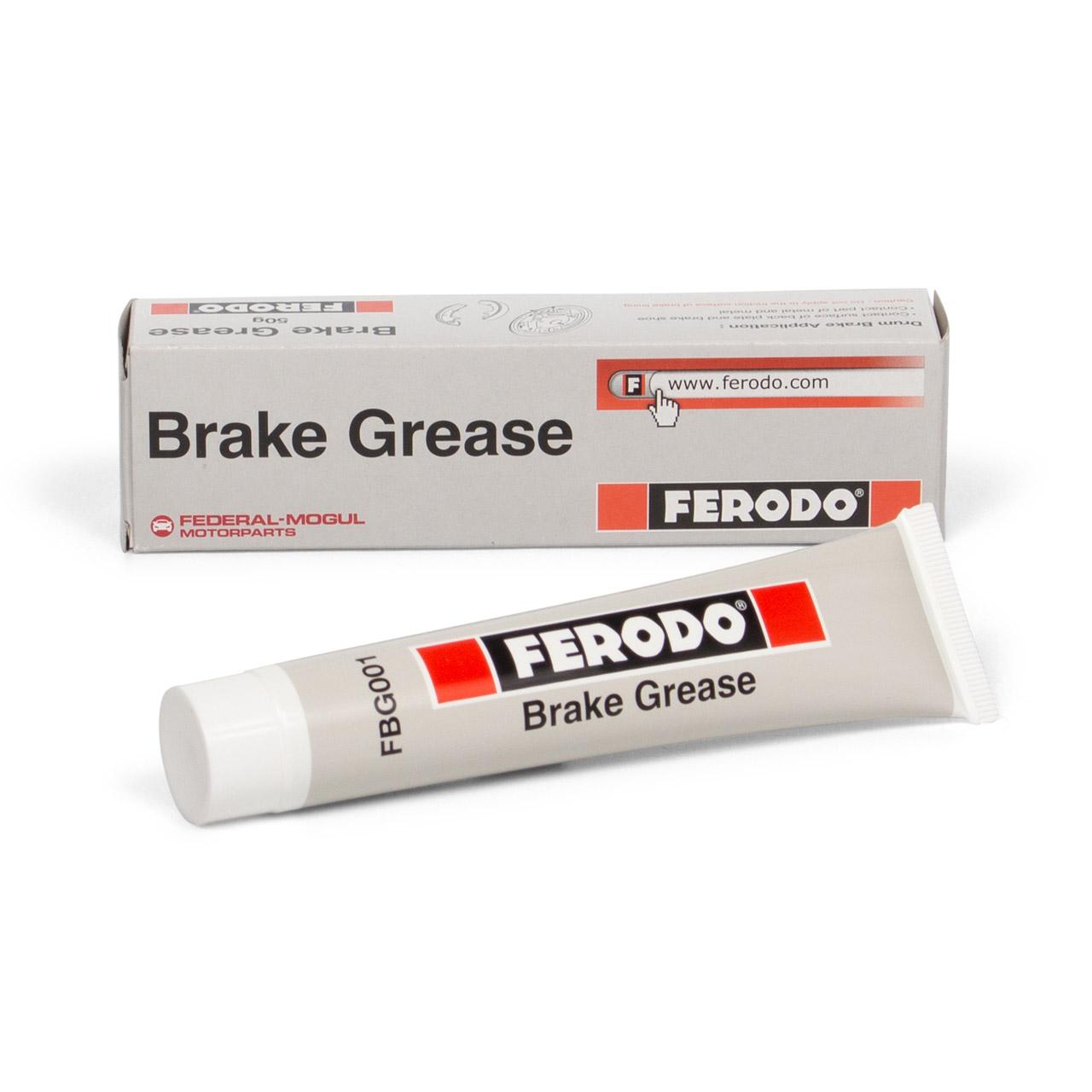 FERODO FBG001 BRAKE GREASE Bremsklotzpaste Bremsbelagpaste Montagepaste 75ml