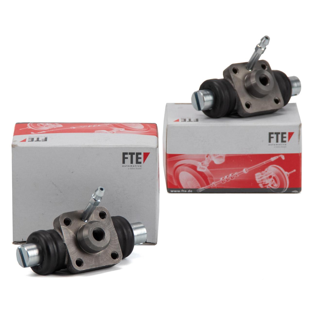 2x FTE Radbremszylinder PORSCHE 356 Cabrio 1100-1500 A1500 A1600 B1600 hinten 64435251301