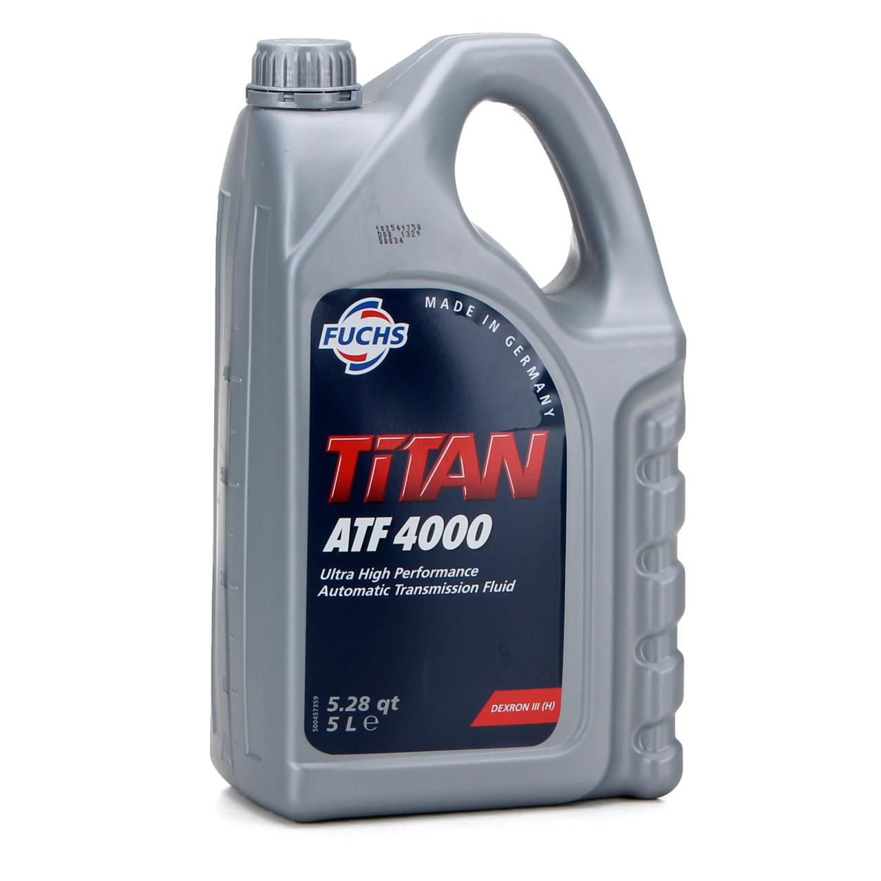 FUCHS Getriebeöl Automatikgetriebeöl TITAN ATF 4000 5L 5 Liter MB 236.1