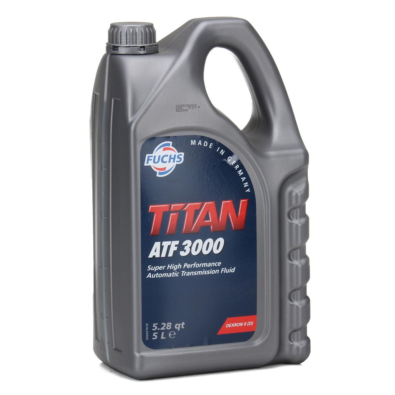 FUCHS Getriebeöl Automatiköl Automatikgetriebeöl TITAN ATF 3000 5 Liter