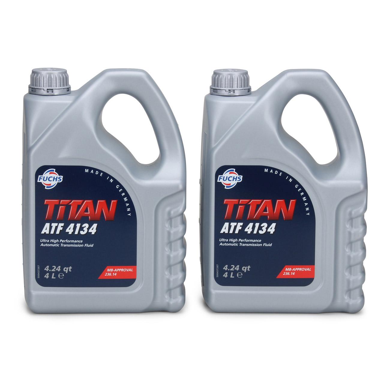 FUCHS Getriebeöl Automatikgetriebeöl TITAN ATF 4134 8L 8 Liter MB 236.14