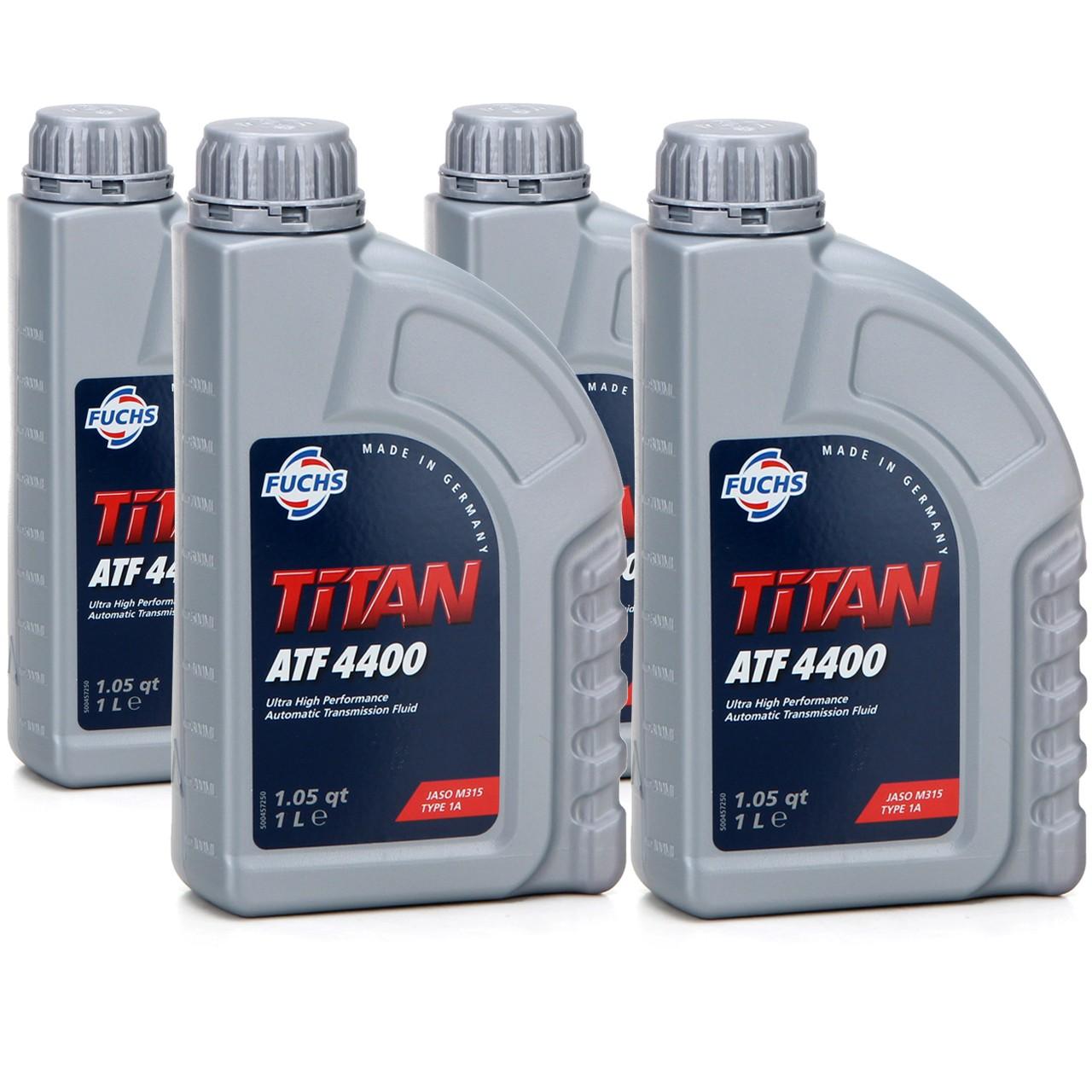 FUCHS Getriebeöl Automatiköl Automatikgetriebeöl TITAN ATF 4400 4 Liter 4L