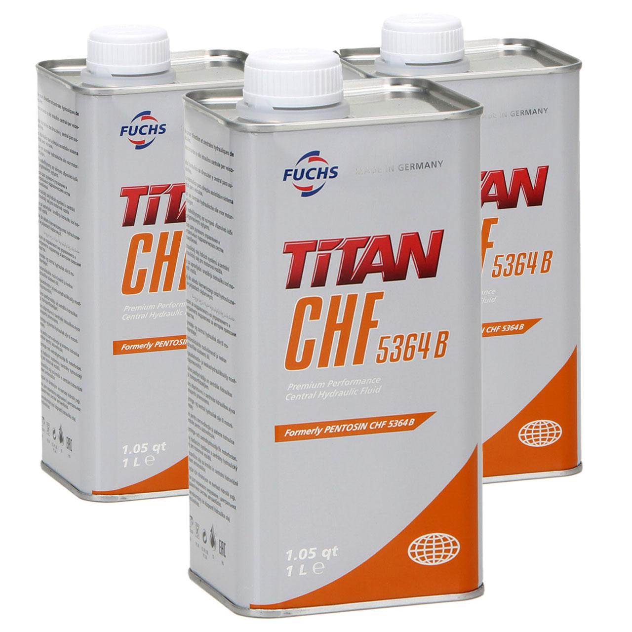 FUCHS Pentosin TITAN Hydrauliköl Zentralhydrauliköl CHF 5364B - 3L 3 Liter
