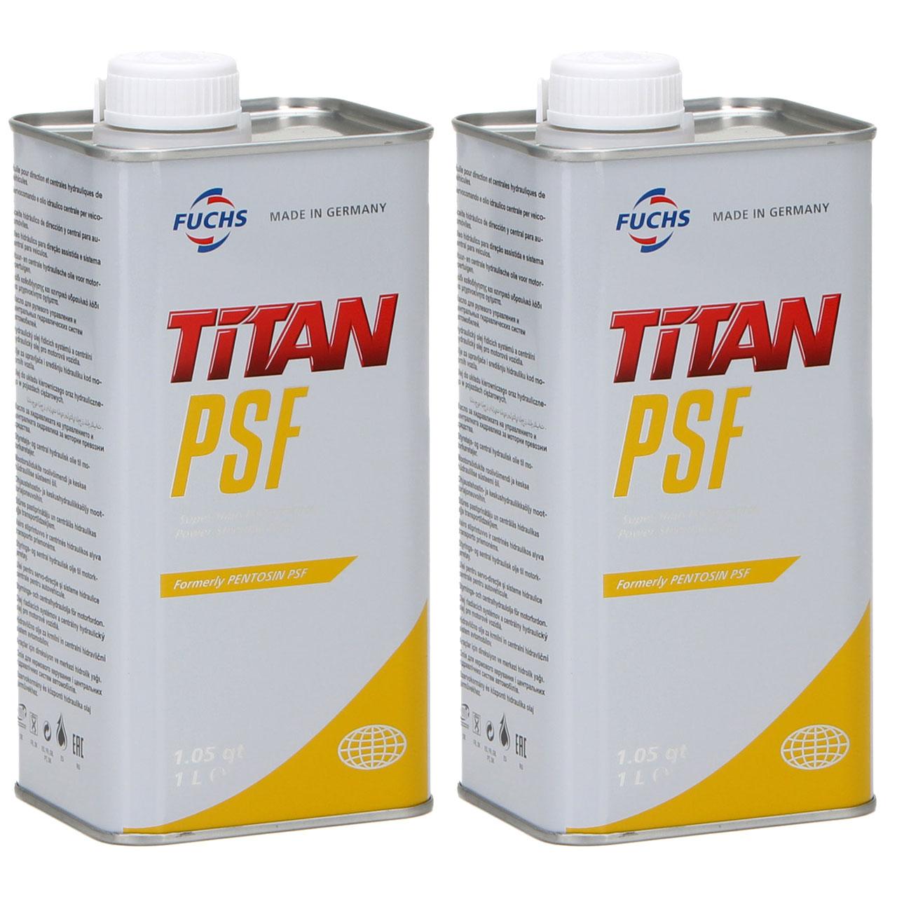 FUCHS Pentosin TITAN Hydrauliköl Zentralhydrauliköl PSF MB 236.3 - 2L 2 Liter